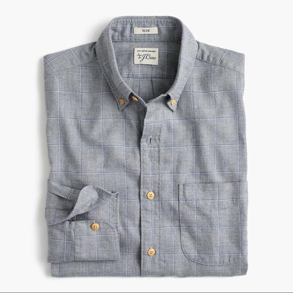 4985c82a498b J. Crew Shirts   J Crew Mens Slim Brushed Flannel Shirt   Poshmark